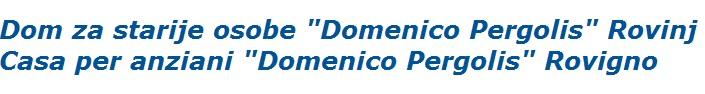 Dom za odrasle Domenico Pergolis